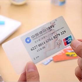 Combo 10 vỏ bọc thẻ căn cước, thẻ tín dụng, bằng lái xe ATM trong suốt mặt nhám, vỏ bọc thẻ chất liệu PVC mềm dẻo, không thấm nước-VBT