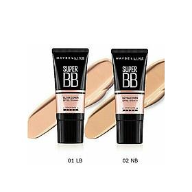 Kem Nền Maybelline Super BB Ultra Cream Cover SPF50 PA++++ 30ml Trang Điểm Hoàn Hảo PM711-5