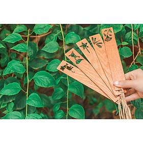 Bộ 5 Đánh dấu trang gỗ (bookmark)