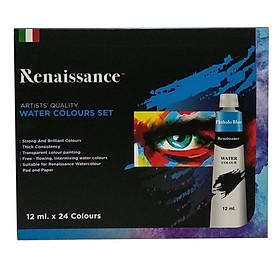 Bộ Bút Chì Màu Nước Renaissance 12ml (24 Màu)
