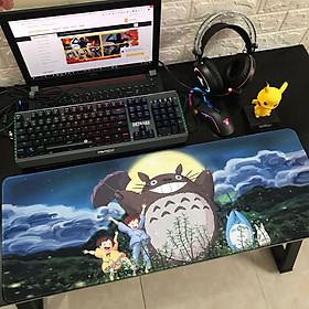 Miếng Lót Chuột, Bàn Di Chuột, mouse pad anime Totoro cỡ lớn (80x30x0.3)