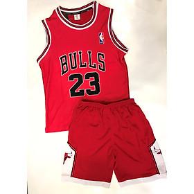 Bộ quần áo bóng rỗ trẻ em Bulls đỏ 2019-20
