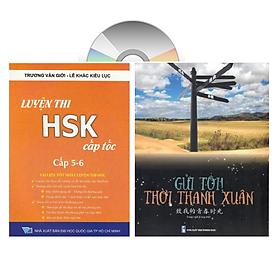 Sách – combo: Luyện thi HSK cấp tốc tập 3 (tương đương HSK 5+6 kèm CD) + Gởi tôi thời thanh xuân song ngữ Trung việt có phiên âm có mp3 nghe +DVD tài liệu
