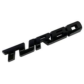 Tem kim loại 3D TURBO dán trang trí ô tô (Màu Đen)