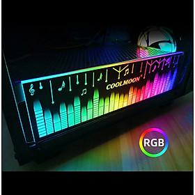Thanh Led RGB Coolmoon Music đồng bộ Hub , Dùng độ trang trí cho case nguồn máy tính - Hàng nhập khẩu