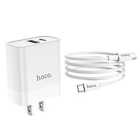 Bộ Củ Sạc Hoco C80 + Cáp Sạc Type C - Hỗ trợ sạc nhanh QC3.0 - Hàng Chính Hãng