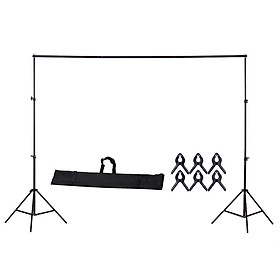 Khung Đỡ Nền Chụp Ảnh Hợp Kim Nhôm Có Thể Điều Chỉnh Kích Thước (200 x 200cm) - Đen