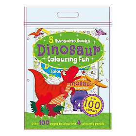 Sách tô màu 3 Awesome Books: Dinosaur Colouring Fun