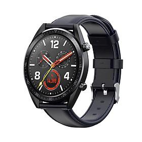 Dây Đeo Da Thay Thế Cho Đồng Hồ Thông Minh Smart Watch  Size 22mm Ticwatch pro / Samsung Gear S3 / Samsung Galaxy Watch 46mm / Xiaomi Amazfit Pace / Amazfit Stratos / Fossil Q MARSHAL gen2