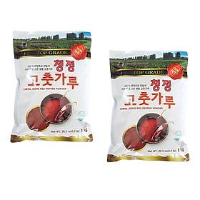 COMBO 2 Gói Ớt Bột Vảy (Cánh) Hàn Quốc CHENG JEONG - Ớt Bột Làm Kim Chi