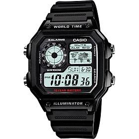 Đồng hồ nam dây nhựa Casio AE-1200WH-1AVDF