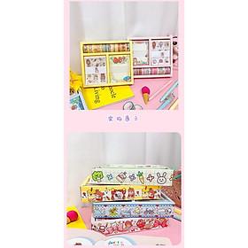 Set Hộp Washi Tape + Sticker + Giấy Note Siêu Cute