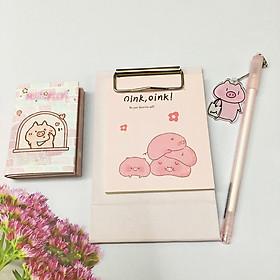 Combo giấy Note bút hình chú heo dễ thương