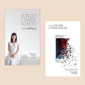 Combo: Dọn Dẹp Cùng Marie Kondo + Lối Sống Tối Giản Thời Công Nghệ Số (Sách sống tối giản / Nghệ thuật sống đẹp)