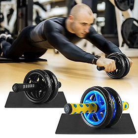 Quiet Abdominal Roller Wheel with Protective Knee Pad Fitness AB Wheel Abdominal Exercise Roller-4