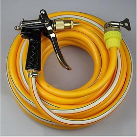 Vòi nước vòi phun nước rửa xe tưới cây tăng áp thông minh + bộ dây bơm nước 10m cao cấp TLG 206400 (dây vàng)