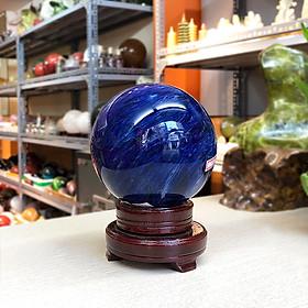 Quả cầu Phong thủy đá Obsidian xanh