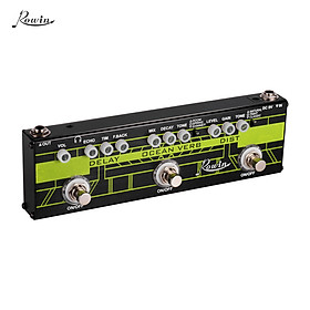 Rowin DAP-1 3-in-1 Guitar Multi Effects Pedal Delay + Ocean Verb + Distortion Aluminum Alloy Shell with True Bypass