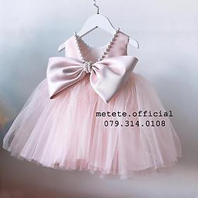 Váy đầm công chúa thiết kế cho bé gái kết ngọc Fioxy đơn giản mà sang chảnh Tiệm Công Chúa Nhỏ