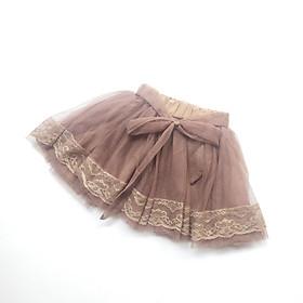 Chân váy bé gái voan lưới cột nơ CA09