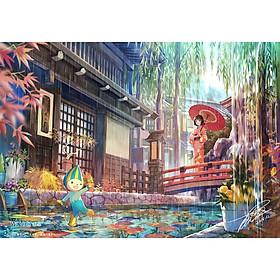 Tranh ghép hình 1000 mảnh gỗ - Em gái mưa