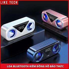 Loa Bluetooth Không Dây Kiêm Đồng Hồ Báo Thức Âm Thanh Siêu Trầm Nghe Cực Chất 2 Loa Công Suất Lớn