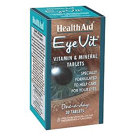 Thực phẩm bảo vệ sức khỏe đến từ Anh Quốc - Viên giữ ẩm cho mắt, ngăn chặn quầng thâm và túi dưới mắt, tăng cường thị lực cho mắt, giúp làm chậm quá trình thoái hóa điểm vàng, đục thủy tinh thể và thoái hóa võng mạc HEALTH AID EYEVIT (Hộp 1 chai 30 viên)
