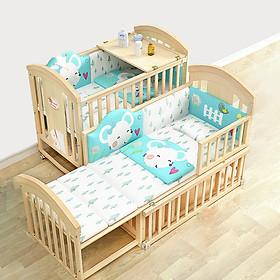 Giường cũi kéo dài cho bé sau có thể thành bàn học