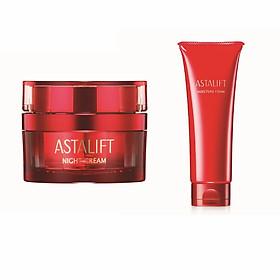 Bộ sản phẩm dưỡng da ban đêm Astalift (Astalift Night Cream 30g + Astalift Moisture Foam 100g)