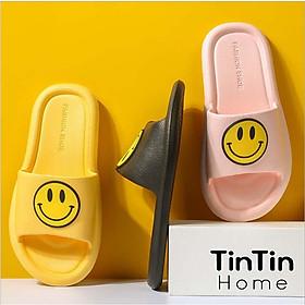 Dép Đi Trong Nhà, Văn Phòng, Nhà Tắm hình mặt cười (ICON VUI), hàng xuất Nhật chống trơn trượt Tintin DNL21