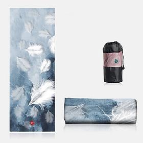 Khăn trải thảm tập YOGA Cao Cấp POHH11 Bám siêu dính - Tặng kèm túi đựng