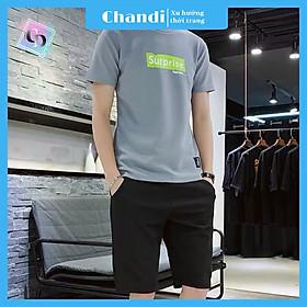 Đồ Bộ Thể Thao Nam thương hiệu Chandi, Đồ Bộ Mặc Nhà chất liệu thun cao cấp mát mẻ, thấm hút mồ hôi tốt MS903