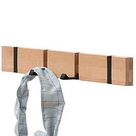 Móc treo quần áo, khăn gắn tường bằng gỗ