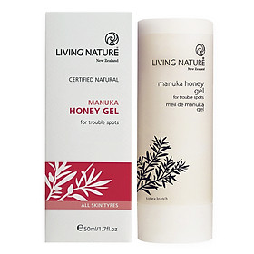 Kem giảm mụn thâm Living Nature Manuka Honey Gel 50ml