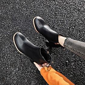 Giày bốt nữ cao gót thời trang Hàn