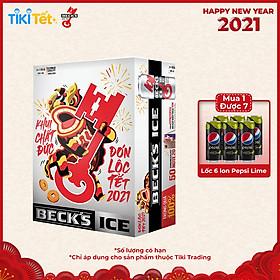 Thùng 24 Lon Bia  Beck's Ice (330ml / Lon) - (Phiên bản Tết trúng quà 100%)