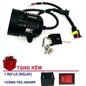Đèn Trợ Sáng Xe Máy L4X ZAHA chuyên pha dành cho phượt thủ (tặng kèm rơ le chống cháy và công tắc on/off)