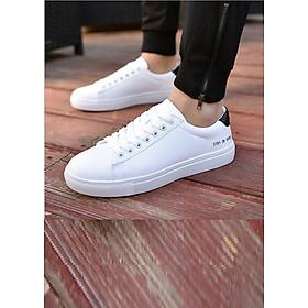 Giày Sneaker thể thao nam màu trắng Cổ thấp SN5037 Da Giày Việt Nam