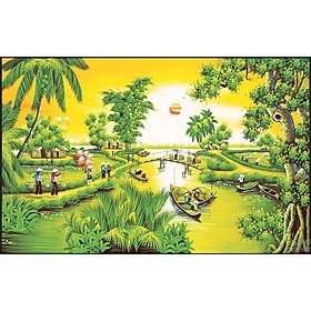 Tranh đính đá Phong cảnh việt ( chưa đính) - 88656