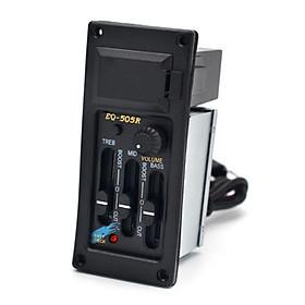 EQ-505R 3-Band Preamp Pickup Acoustic Guitar Tone Volume Amplifier EQ Piezo Pickup