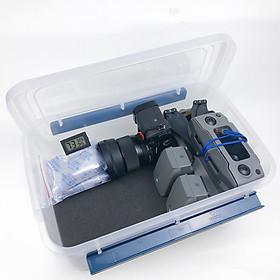 Combo hộp chống ẩm máy ảnh, flycam 10L rộng 37cm (tùy chọn hạt hút ẩm hoặc máy hút ẩm)