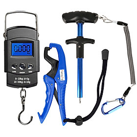 Handheld Digital Fish Scale Squeeze-Out Fish Hook Remover Fish Gripper Fishing Combo Kit