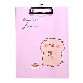 Bìa Kẹp Tài Liệu Giấy A4  I Love Pigs