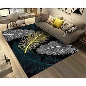 Thảm trải sàn Sofa trang trí phòng khách Bali in 3D Nhung nỉ lì cao cấp sang trọng hiện đại BL59 - Lông Vũ Sắc Màu