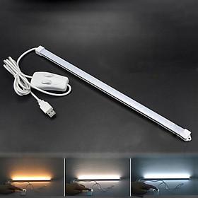 Bộ LED Thanh 35cm 60LED USB Ánh Sáng Kép (3 Chế độ sáng Trắng/ Vàng/ Trung Tính) Ngõ Cấp Nguồn USB Với 2 Công Tắc Đôi Dây Dài 150cm Mai Lee