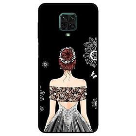 Ốp lưng dành cho Xiaomi Redmi 9s - 9 Pro - 9 Promax mẫu Cô Gái Váy Xám