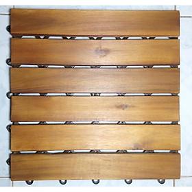 Thùng ván gỗ lót sàn 6 nan - nâu vàng