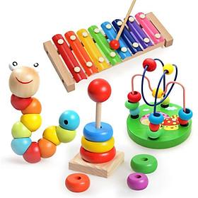 Bộ 4 món đồ chơi bằng gỗ giúp bé phát triển EQ sớm