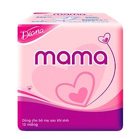 Bộ 4 Gói Băng Vệ Sinh Diana Mama (12 Miếng/Gói)