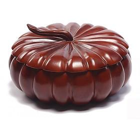 Khay đựng bánh kẹo quả bí gỗ hương loại to nguyên khối chia ngăn cao cấp